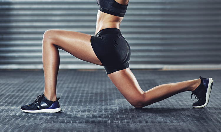 Exercices de squat avec fentes