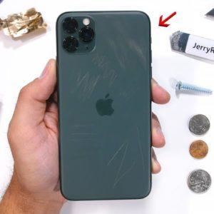 Des rayures sur l'écran de l'iPhone 11
