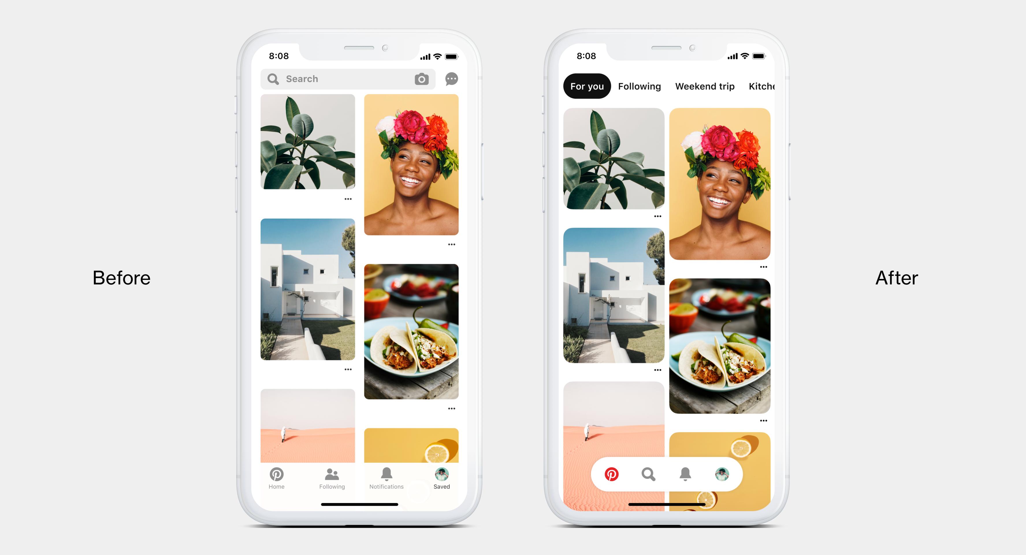 Pinterest lance une nouvelle version de son application