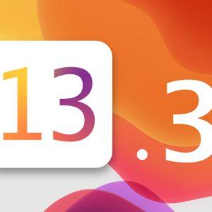 la mise à jour iOS 13.3