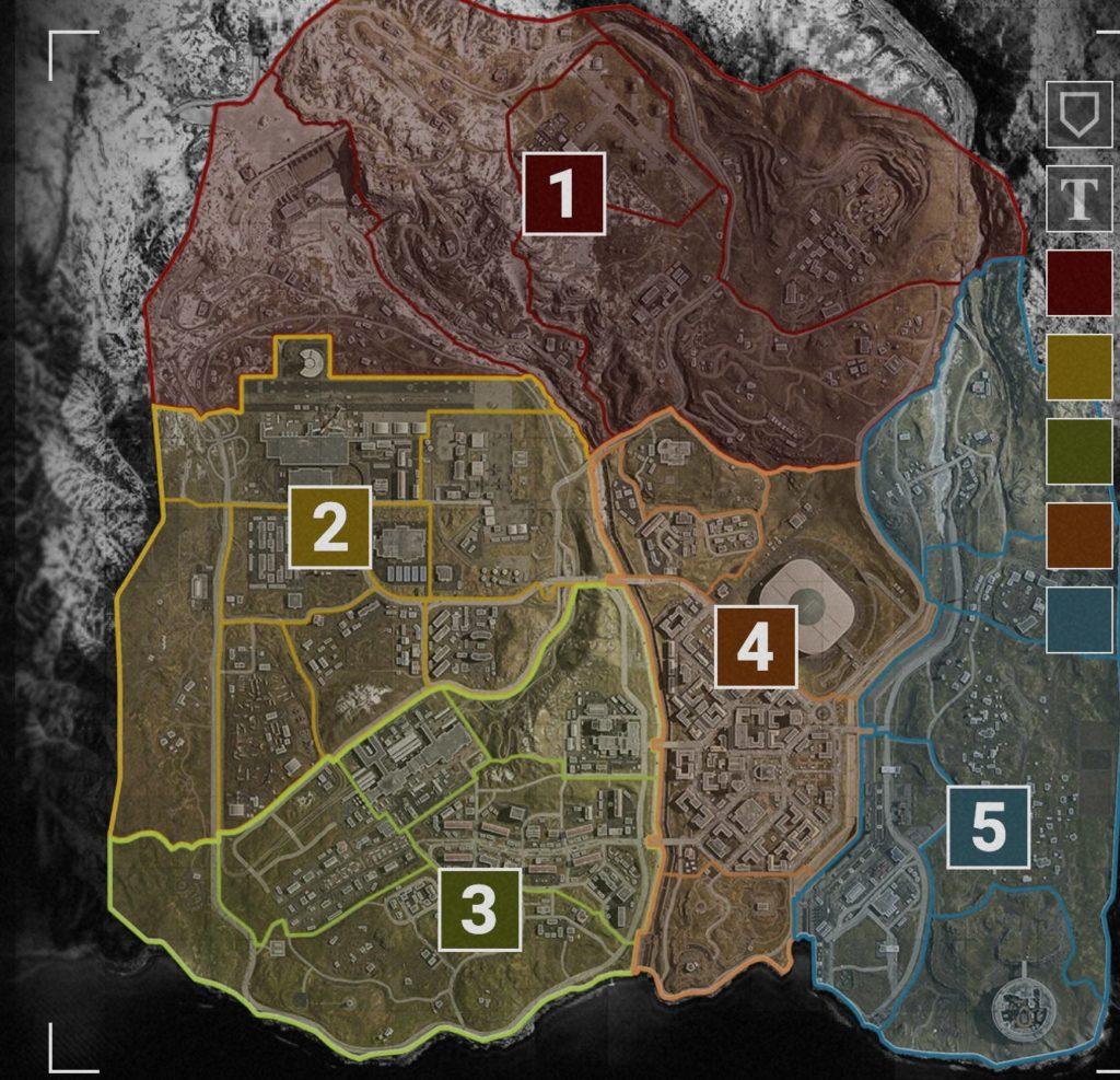 COD Warzone: la carte complète