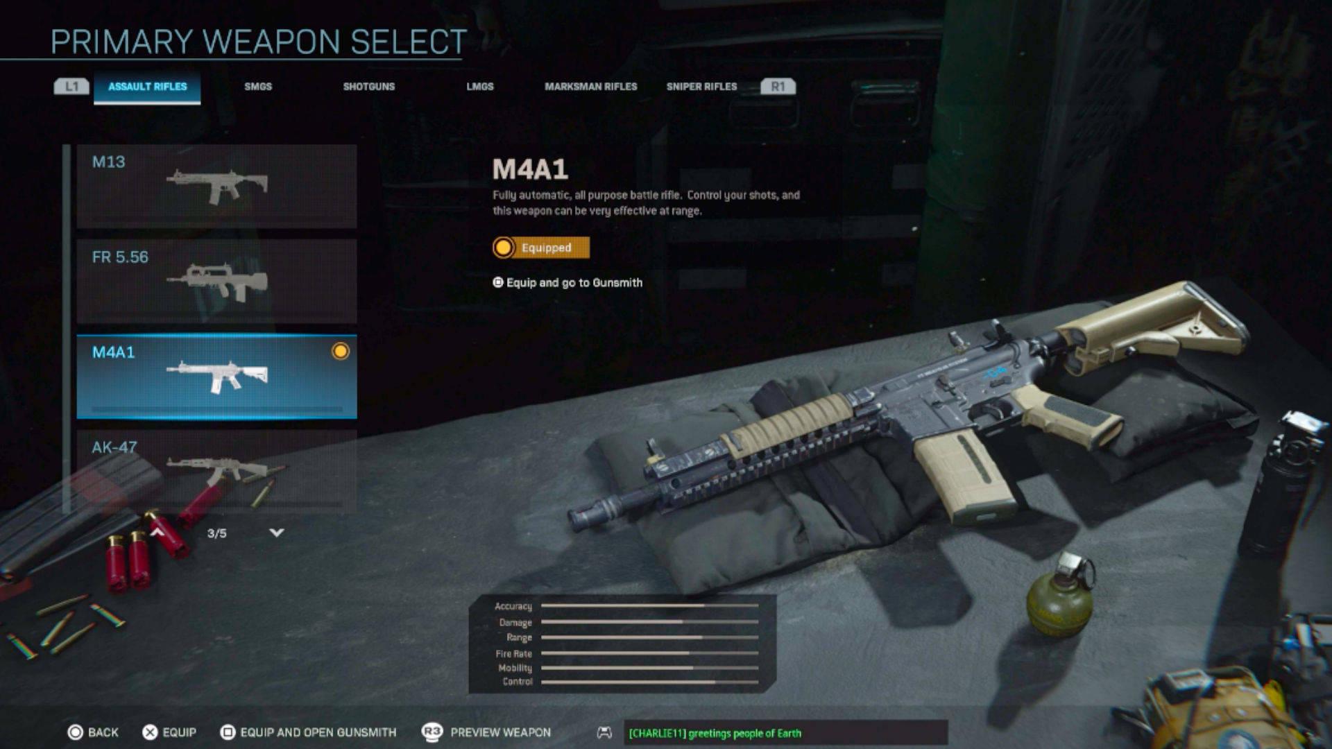 Liste des niveaux d'armes de la zone de guerre (niveau S)