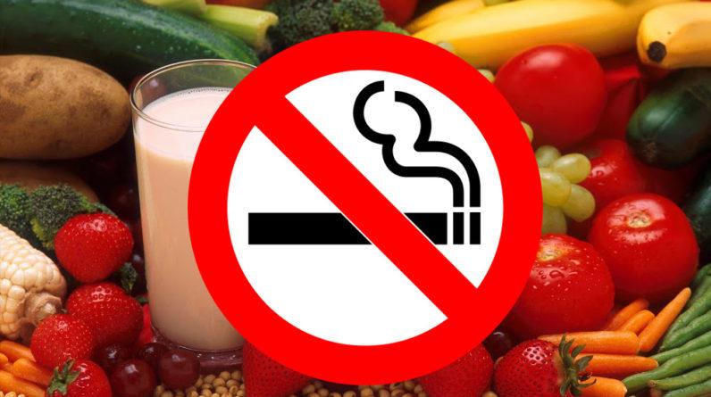 aliments pour arrêter de fumer