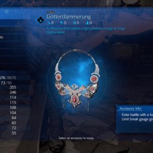 Gotterdammerung est l'un des accessoires les plus utiles du jeu