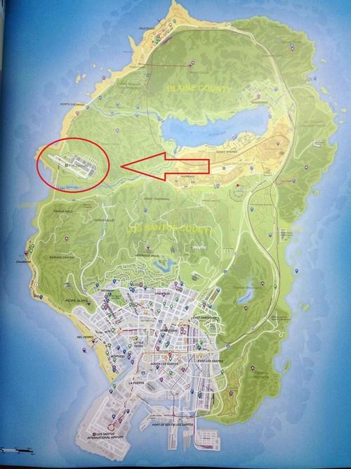 Où se trouve la base militaire dans GTA 5 sur la carte ?