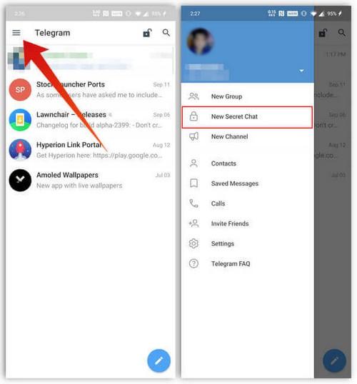 Comment créer des chats secrets sur Telegram