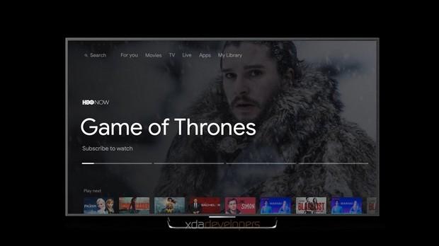 La nouvelle interface Android TV