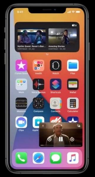 Image dans l'image iOS 14