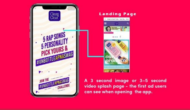 la Splash Page tiktok ads