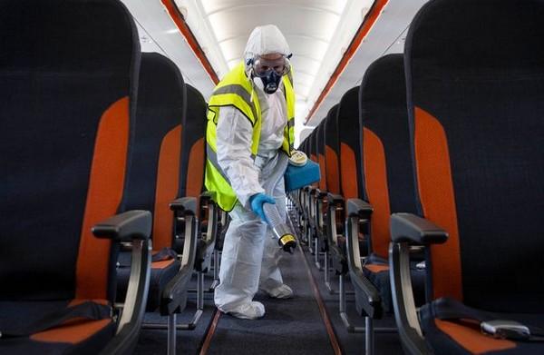 la désinfection des avions