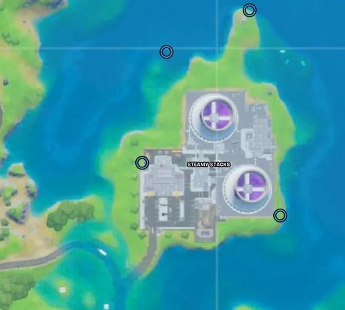 Voici tous les emplacements des 4 anneaux.