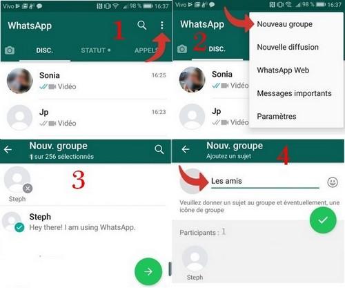 Comment créer un groupe WhatsApp