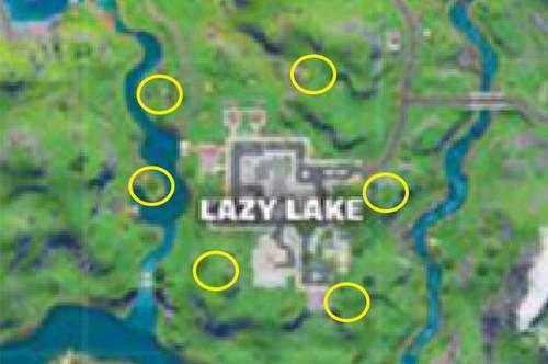 L'emplacement des feux d'artifice à Lazy Lake