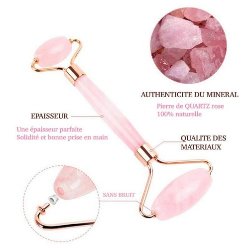 rouleau visage au quartz rose