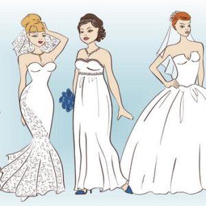 Choisir sa robe de mariée selon sa morphologie