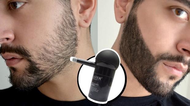 Un spray effaceur de racines pour boucher les trous dans la barbe