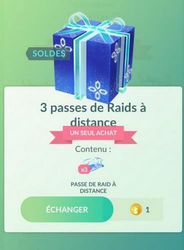 Boîte 3 Passes de Raids à Distance septembre 2020