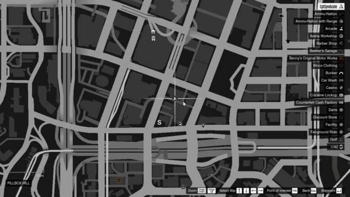 Emplacements brouilleurs 10 sur la carte gta 5 online
