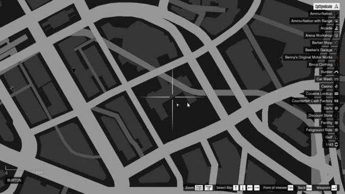 Emplacements brouilleurs 18 sur la carte gta 5 online