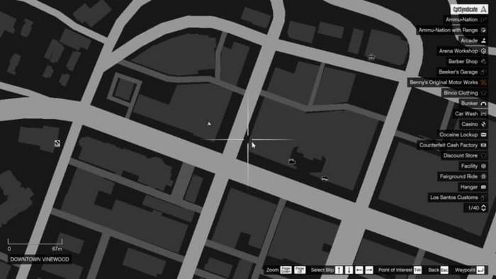 Emplacements brouilleurs 19 sur la carte gta 5 online