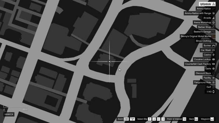 Emplacements brouilleurs 20 sur la carte gta 5 online