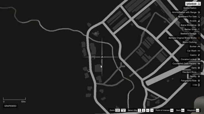 Emplacements brouilleurs 42 sur la carte gta 5 online
