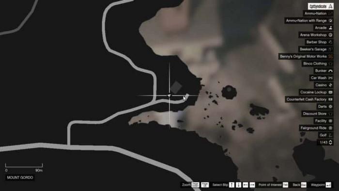 Emplacements brouilleurs 43 sur la carte gta 5 online