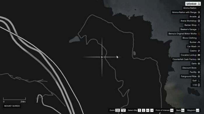 Emplacements brouilleurs 44 sur la carte gta 5 online