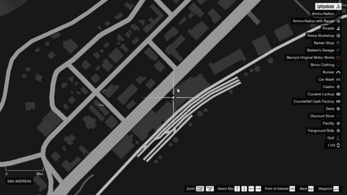 Emplacements brouilleurs 46 sur la carte gta 5 online