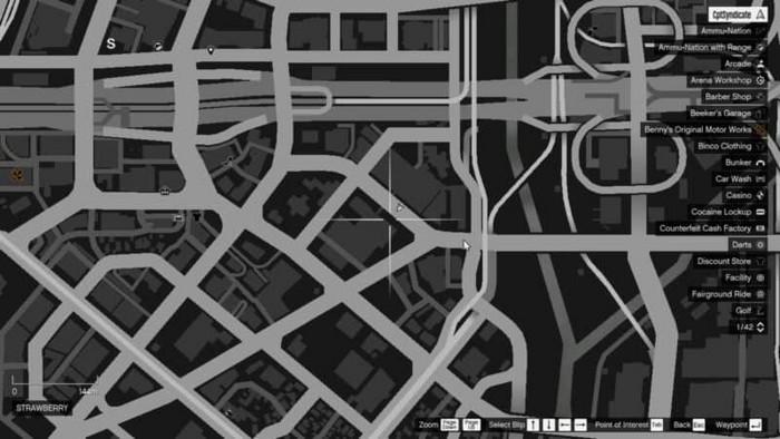 Emplacements brouilleurs 9 sur la carte gta 5 online