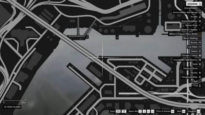 Emplacements brouilleurs 2 sur la carte gta 5 online