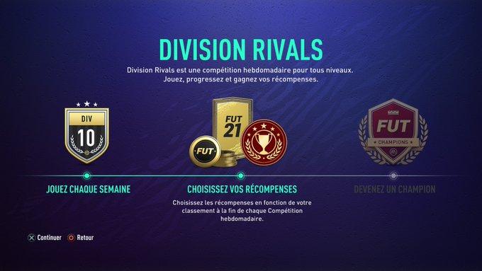 Les récompenses Division Rivals sur FIFA 21 - FUT