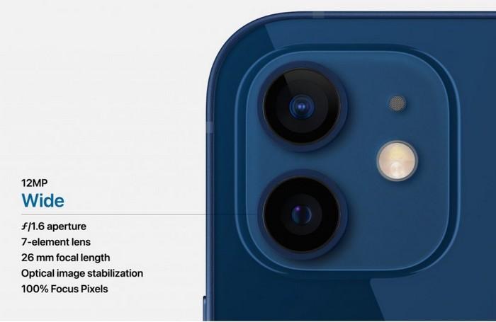 Caméra iPhone 12