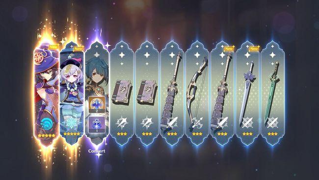 les personnages et armes 5 étoiles de Genshin Impact