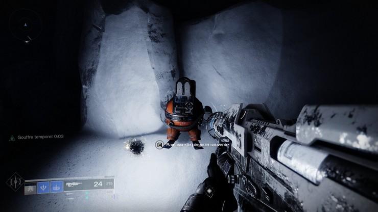 ou trouver Le Pingouin de la Crête de Cadmus Destiny 2, Au-delà de la Lumière
