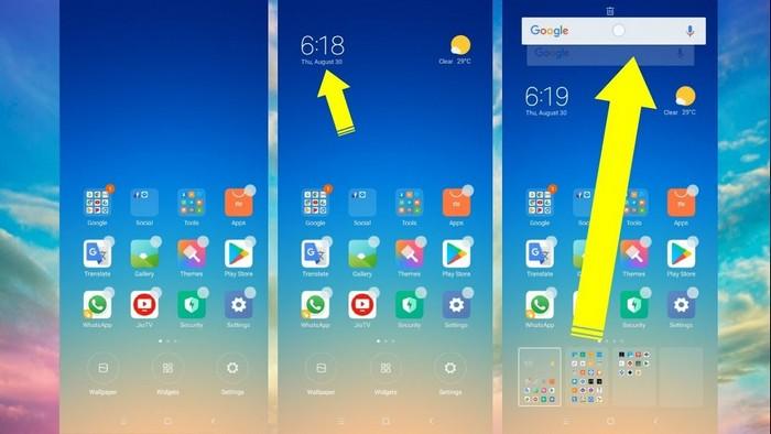 ajouter des widgets dans Redmi Note 5 Pro