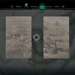 L' atlas est utilisé pour se déplacer entre les terres