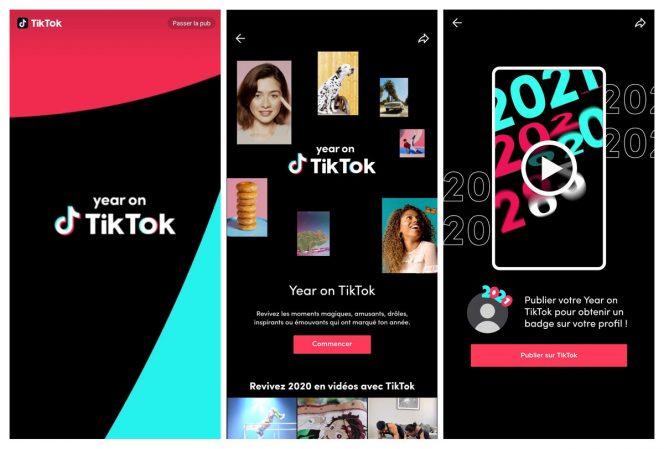 Comment voir les récaps « Year on TikTok »