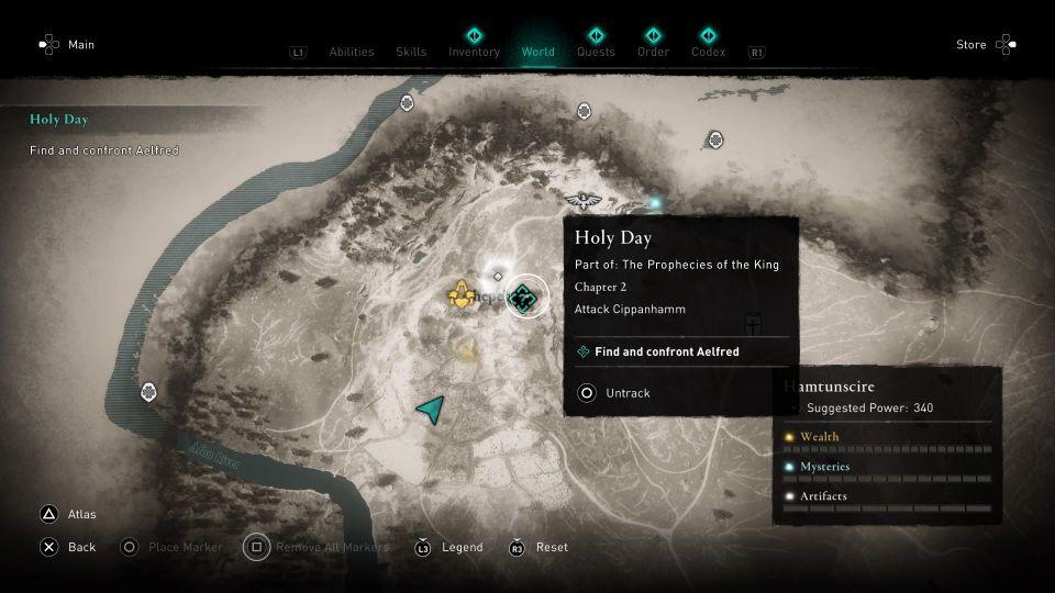L'emplacement est indiqué sur la carte ci-dessous, marqué par le symbole de quête.