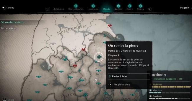 Comment compléter la quête « Où tombe la pierre » Assassin's Creed Valhalla