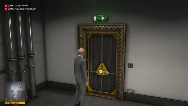 Porte du hall de l'atrium