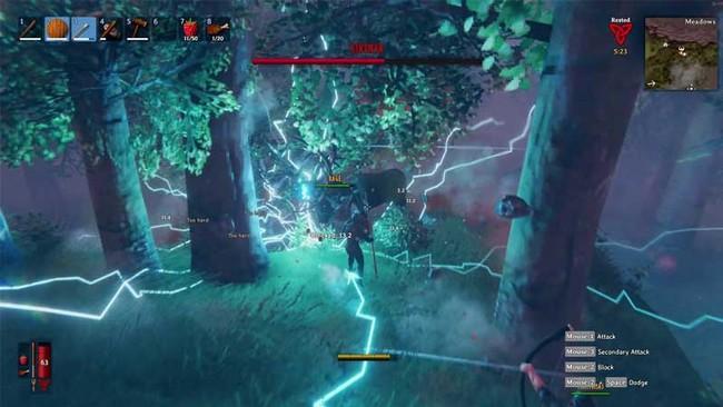 Une énorme attaque de foudre AoE est l'une de ses trois attaques d'Eikthyr