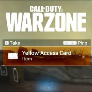 la carte d'accès jaunes dans Warzone
