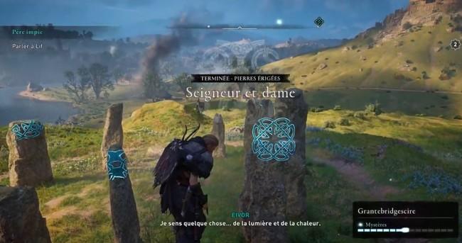 Pierre érigée Seigneur et dame Assassin's Creed Valhalla