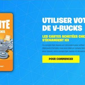 Comment avoir des cartes de V-Bucks Fortnite En France