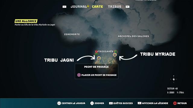 Choix de la tribu Biomutant Jagni ou Myriad: à laquelle adhérer?