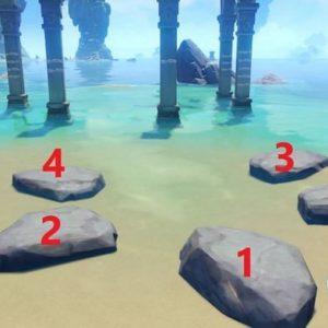 Résoudre l'énigme des piliers sur les îles brisées