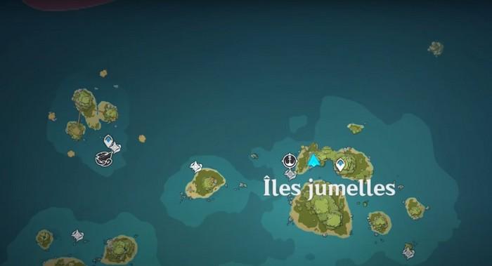 conque d'écho -îles jumelles