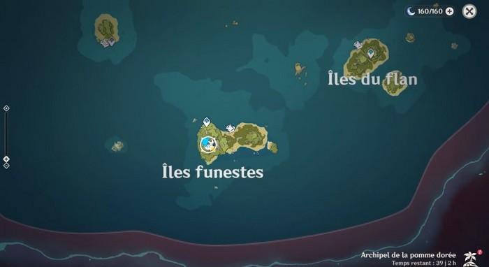 emplacement du coffre à l'envers des îles funestes