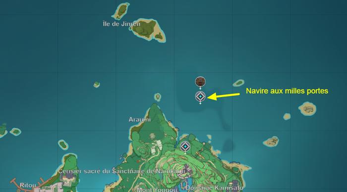 Donjon Navire aux milles portes